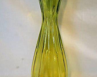 """Vintage Green Vase Large Glass Vase 16"""" Vase"""