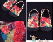 Gummy Bear Puddles: Soft-Soled Water Shoes w/Non-slip Bottoms and Rough Tips-Size 8