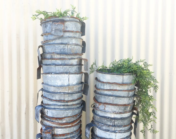Featured listing image: vintage hanging calf feed bucket