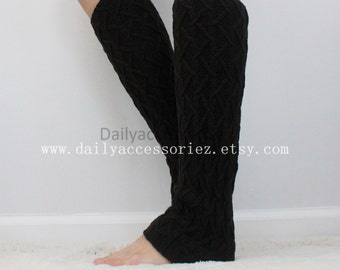 black womens leg warmers, soft knit leg warmers, leg warmers adult, boot socks, for girls, for women, Christmas Gifts, for her, for mom