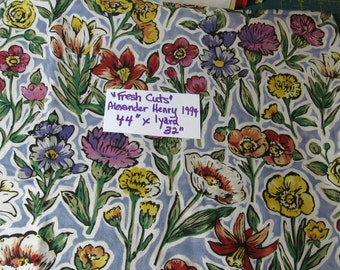 "Alexander Henry, Fabric, 1994, 44"" x 1 yard 32"", quilting, sewing, supplies, cotton (Fresh Cuts)"