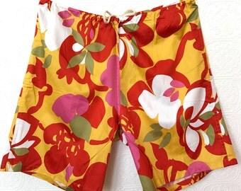 SALE color-block retro flora shorts By Jams World Hawaii