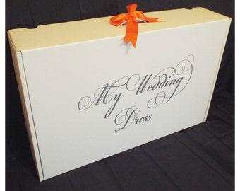 Wedding dress etsy uk for Acid free box for wedding dress