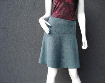 Rock wool rock Green Black winter skirt wool ladies