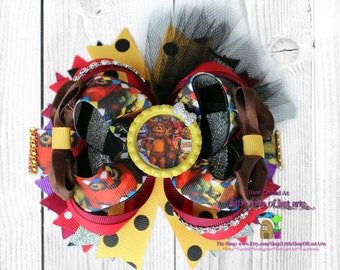 Five nights at Freddy's inspired deluxe hairbow ready to ship