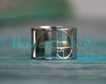 Fibonacci Golden ratio ring II - Stainless Steel