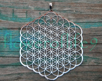Flower of life - pendant to the window (2,83 inch)- Stainless Steel
