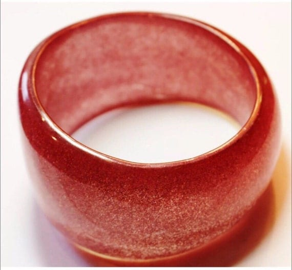 Awesome giant Pink Asymmetric glitter bangle  ready to hit the disco floor!