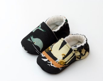 Organic Sailor Soft Sole Baby Shoes / Toddler Shoes / Leather Toddler Shoes / Baby Booties / Baby Shower Gift /  Summer / Fall / Winter