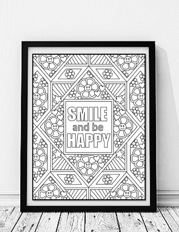Inspirational Quote Coloring Page Custom By
