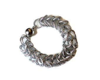 Chainmaille Jewelry Jump ring large Persian bracelet