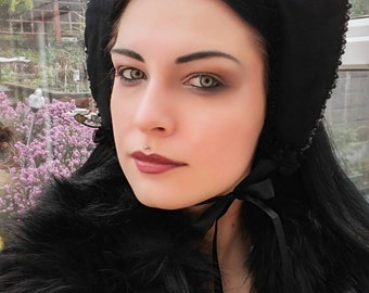 Gothic headpiece/Gothic Lolita fascinator/kokoshnik/Fantasy headpiece