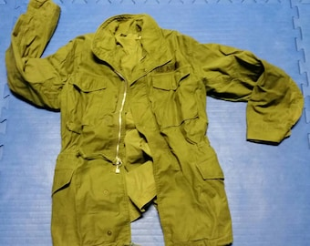 M-65 Army Man's Field Coat with Hood Long Small Stock No. 8405-782-2937