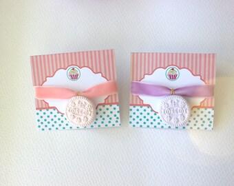 Cookie choker necklace, kawaii choker, pink lilac dessert choker