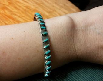 Zuni Petit Point Turquoise Cuff Bracelet