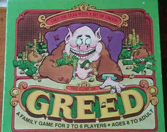 Vintage Whitman Card Game GREED 1982 Complete Rare