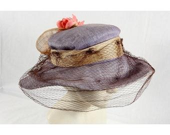 1970s Vintage summer straw hat