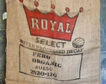 Large Jute Coffee Sack-  Royal Select