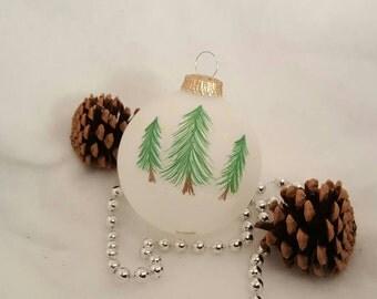 Woodland Trees Christmas Ornament SET / Xmas Ornament / Christmas Ornament Handmade / Christmas Tree Ornament / Xmas Decorations / Christmas