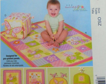 Baby Blanket and Big Block Toy McCall's Sewing Pattern 7372/Patchwork Baby Quilt/Diaper Stacker/Diaper Organizer/Baby Nursery Accessories