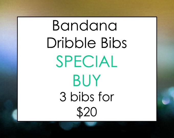 Featured listing image: Bandana Dribble Bib Special - Pick Any 3