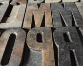 2 1/2 Inch / Pick Your Letters / Vintage Letterpress / Antique Letterpress / Printer Block Letter / Wood Type / Wood Letters / Vintage Type