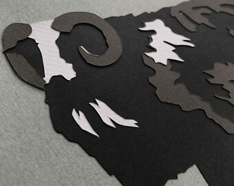 Balwen Sheep - A5 Original Papercut