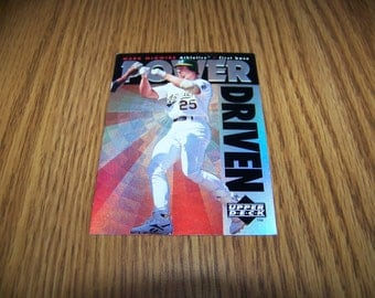 1996 Mark McGwire (Oakland A's) Upper Deck Power Driven Insert Card
