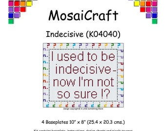 MosaiCraft Pixel Craft Mosaic Art Kit 'Indecisive' (Like Mini Mosaic and Paint by Numbers)