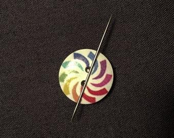 Rainbow Needle Minder, Needle Nanny, Magnetic Needle Holder for Hand Embroidery or Cross Stitch