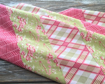 Patchwork Baby/Toddler/Crib Blanket/Quilt, Nursery Decor, Photography Prop ~ Pink//Girly//Plaid//Flowers//Feminine