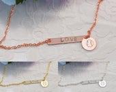 Baseball Bracelet, Baseball Jewelry, Baseball Lover Gift, Baseball Gift, Silver Bar Necklace, Heart Charm, Disc Charm, Handmade Necklace
