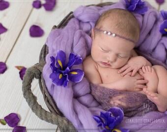 Purple Basket Filler Suffer Newborn Photography Prop