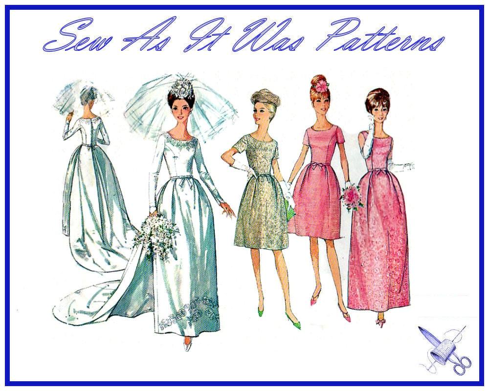 1960s Ff Unused Simplicity 6353 Bridal Wedding Dress