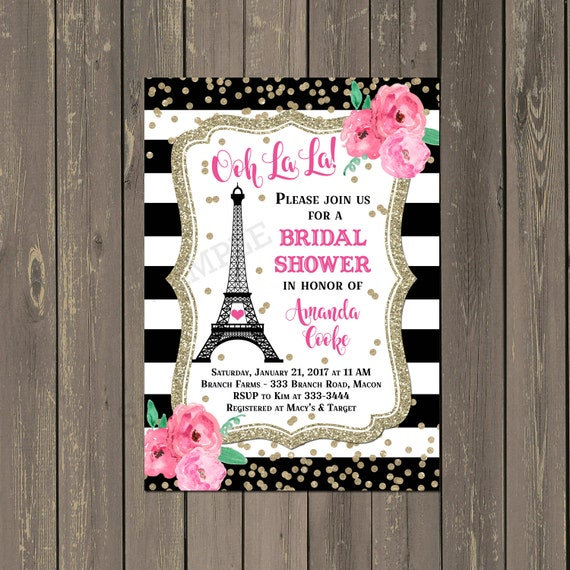 Paris bridal shower invitation french eiffel tower shower il570xn filmwisefo
