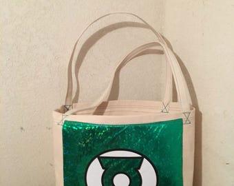 Canvas Green Lantern Tote Bag