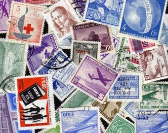 50 Diff. Chile Stamps, Chilean Postage stamps, South American Stamps, Stamp Collection, Stamps, Postage Stamps,Stamps, Crafts