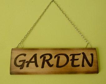 Wood Sign Garden Sign Handburned Sign Wood Board Custom Signs Custom Wood  Sign Woodburning Garden Board