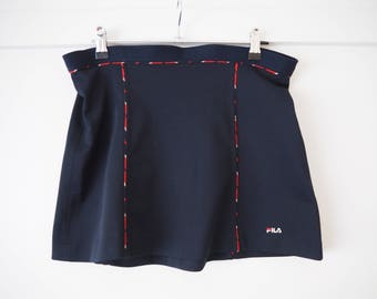 Vintage FILA women's navy tennis skirt S