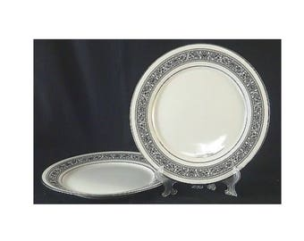 Noritake Prelude Vintage Fine China with pattern and silver band