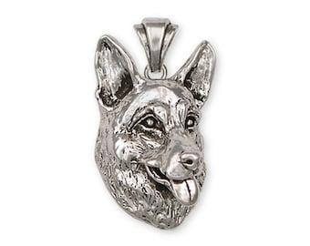 German Shepherd Pendant Jewelry Sterling Silver Handmade Dog Pendant GS3-P