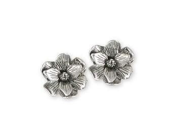 Magnolia Earrings Jewelry Sterling Silver Handmade Flower Earrings MG4-E