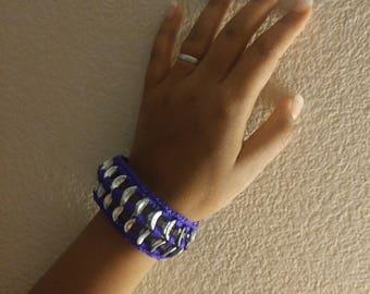 Upcycled poptab/soda tab bracelet