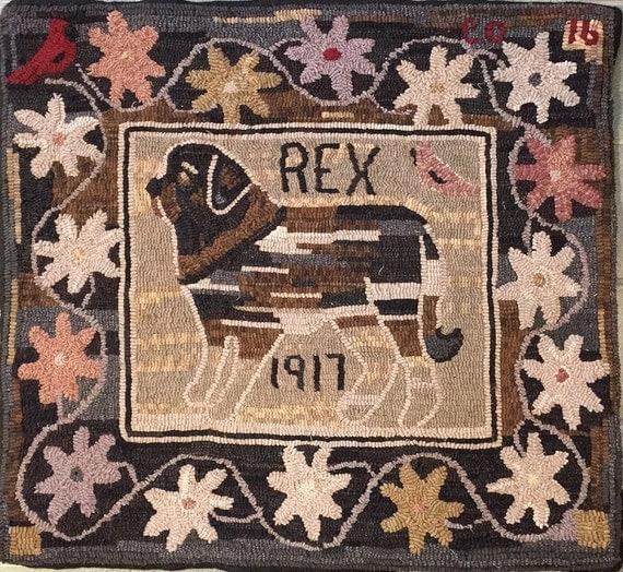 """Rug Hooking Pattern, Spirit Dog , 32"""" x 36""""  P147"""