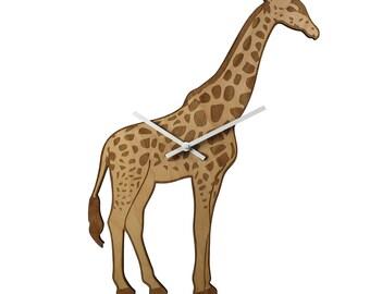 GIRAFFE WALL CLOCK Safari Animal
