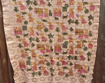 Vintage Meghalaya Handwoven Reversible Bedspread