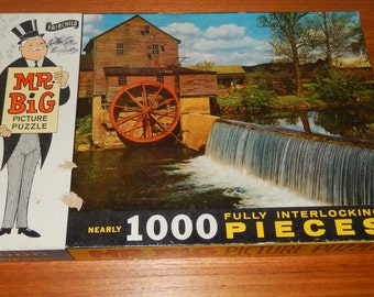 "Vintage Mr. Big Picture Puzzle by Fairchild - Called ""In Days Gone By"" No. 1572 Series 2 - COMPLETE"