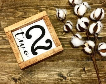 Family Number Sign / Family Members / Number Sign / Rustic