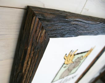 """16x20 Charcoal Wood [Chunky x 2""""] Picture Frame"""