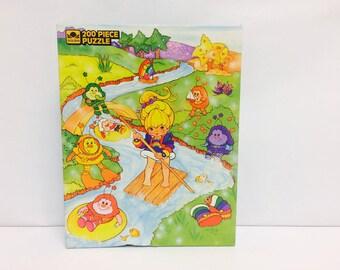 Vintage Rainbow Brite, Rainbow Brite Puzzle, 1983 Jigsaw Puzzle, Golden Puzzles, Hallmark, 1980s Toys, 1980s Puzzle, Children's Puzzle